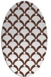 rug #669273 | oval black retro rug