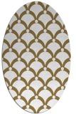 rug #669277 | oval mid-brown retro rug