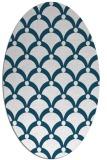 rug #669280 | oval retro rug