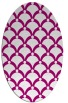 rug #669285 | oval pink rug