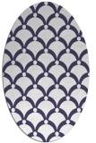 rug #669341 | oval blue-violet rug