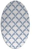 rug #669369 | oval blue-violet retro rug