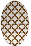 rug #669401 | oval brown rug