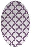 rug #669437   oval purple retro rug