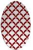 rug #669445 | oval orange retro rug