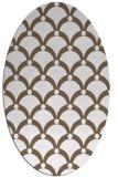 rug #669489   oval purple retro rug