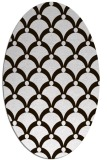 rug #669553 | oval brown retro rug