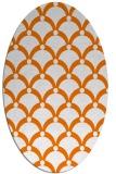 rug #669573   oval beige retro rug