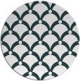 rug #670041 | round blue retro rug