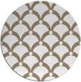 rug #670081 | round mid-brown retro rug
