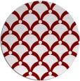 rug #670149 | round orange retro rug