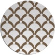 rug #670193 | round mid-brown retro rug