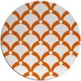 rug #670225 | round red-orange retro rug