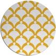 rug #670249 | round yellow retro rug