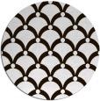 rug #670257 | round brown retro rug