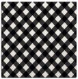 rug #670669 | square black check rug