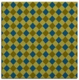 rug #670725 | square blue-green check rug