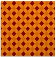 rug #670853 | square orange check rug