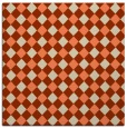 rug #670861 | square orange check rug