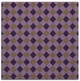 rug #670897 | square mid-brown check rug