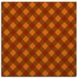 rug #670921 | square red-orange check rug