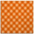 rug #670925 | square red-orange check rug