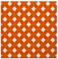rug #670933 | square red-orange check rug