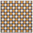 rug #671013 | square light-orange check rug
