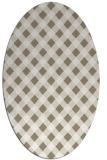 rug #671017 | oval white check rug