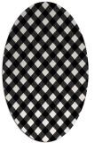 rug #671021   oval white check rug