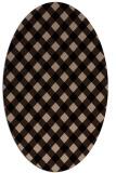 rug #671029 | oval beige check rug