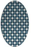 rug #671041 | oval white check rug