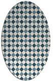rug #671043   oval check rug