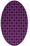 rug #671045 | oval blue check rug