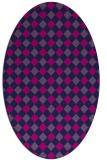 rug #671047   oval check rug