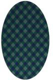 rug #671049 | oval blue check rug