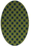 rug #671053 | oval blue check rug