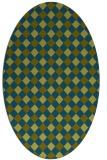 rug #671079 | oval check rug