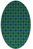 rug #671097 | oval blue rug