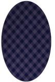 rug #671101 | oval blue-violet check rug