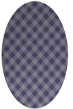 rug #671105 | oval blue-violet check rug