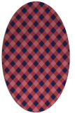 rug #671109 | oval blue-violet check rug