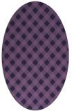 rug #671113 | oval purple check rug
