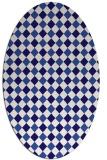rug #671121 | oval blue-violet check rug