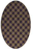 rug #671125 | oval blue-violet check rug