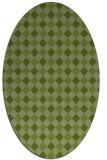 rug #671141 | oval check rug