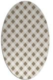 rug #671157   oval white check rug
