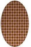 rug #671161   oval brown check rug