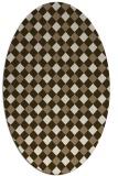 rug #671169 | oval beige check rug