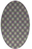 rug #671197 | oval purple check rug